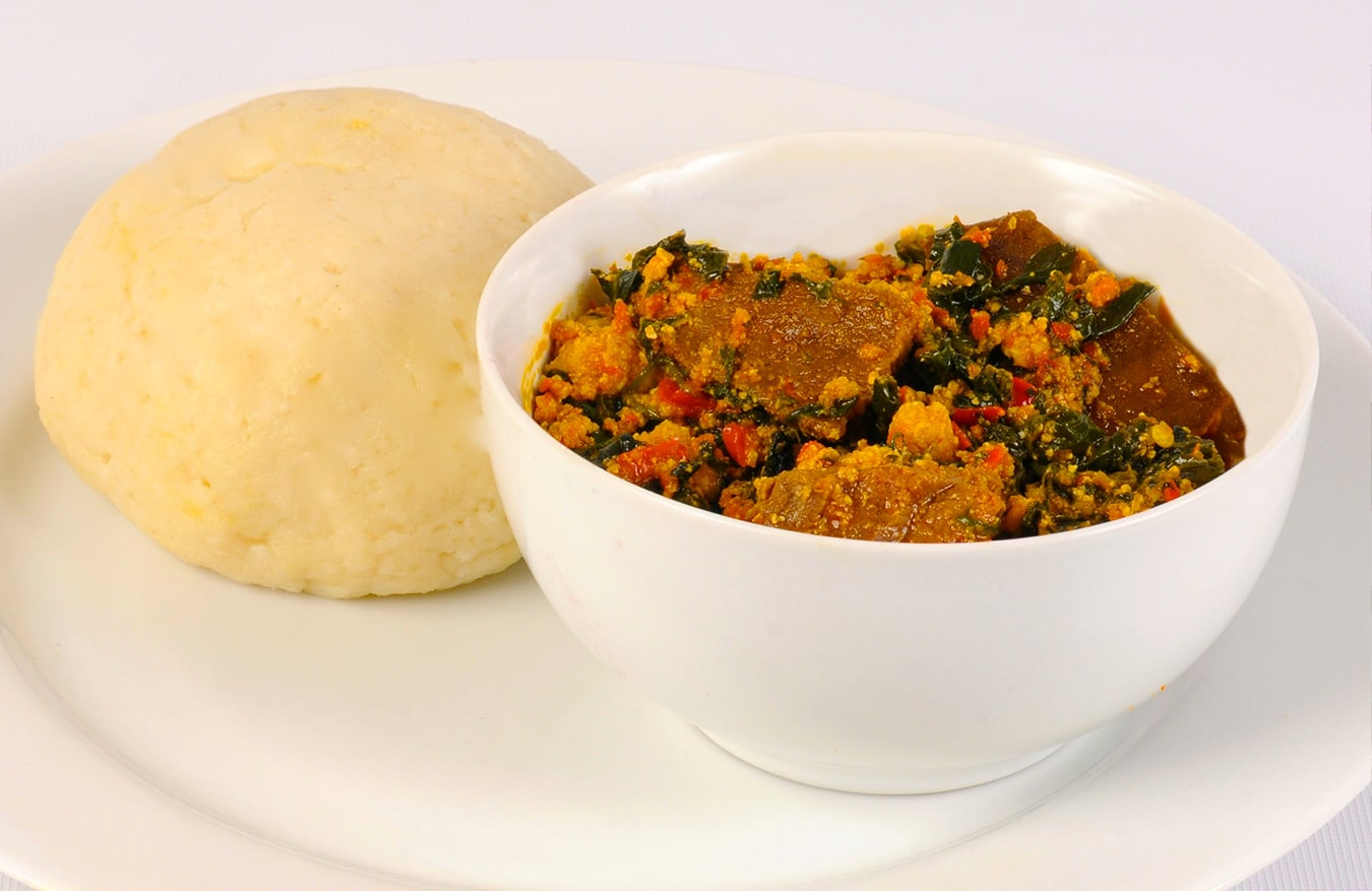 Egusi Soup Pounded Yam Nigerian Cuisine Stock Photo (Royalty) Pictures of pounded yam and egusi soup